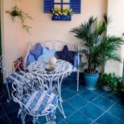地中海简约阳台桌椅装饰