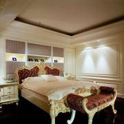 巴洛克卧室床头置物架装饰
