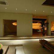 东南亚简约风格展厅灯饰装饰
