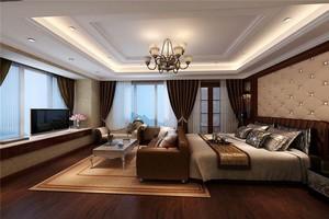 别墅东南亚风格卧室窗帘装饰