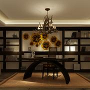 东南亚风格书房奢华吊顶装饰