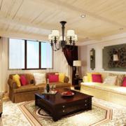 多彩的客厅窗帘图