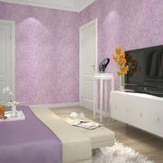 紫色系卧室墙衣效果图