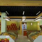 水果店简约背景墙装饰