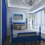 地中海简约卧室飘窗装饰