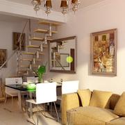 欧式简约风格跃层楼梯装饰