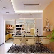 现代清新风格厨房置物架隔断装饰