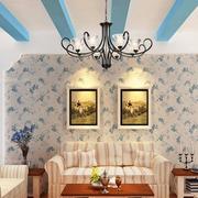 地中海风格客厅简约吊顶装饰