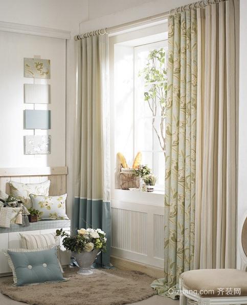 田园风格客厅窗帘装修效果图