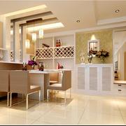现代简约风格餐厅置物架装饰