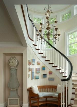 现代简约复式楼楼梯装修效果图