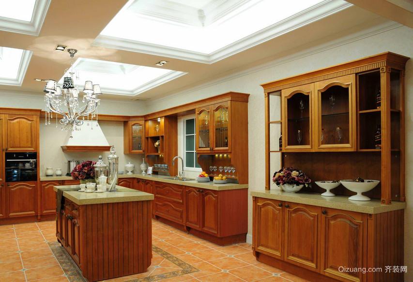 90平米大户型欧式厨房吊顶欧派橱柜装修效果图