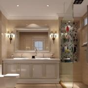 欧美小户型卫生间洗手台隔板间