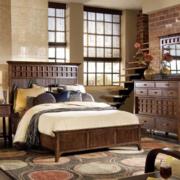 美式复古原木卧室装饰