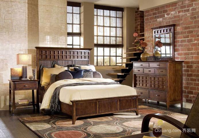 30平米古典美式卧室装修效果图