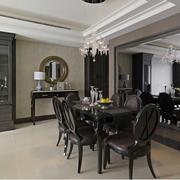 后现代风格餐厅桌椅装饰