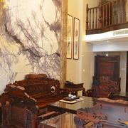 中式楼中楼简约客厅桌椅装饰
