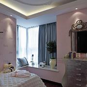 粉色系儿童房简约背景墙装饰