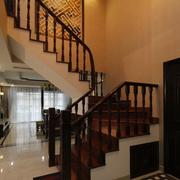 复式楼简约深色系楼梯装饰