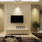简约风格硅藻泥电视背景墙装饰