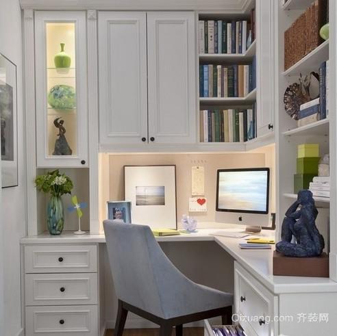 复古时尚转角书柜装修效果图