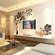 复式楼简约风格电视墙墙贴装饰