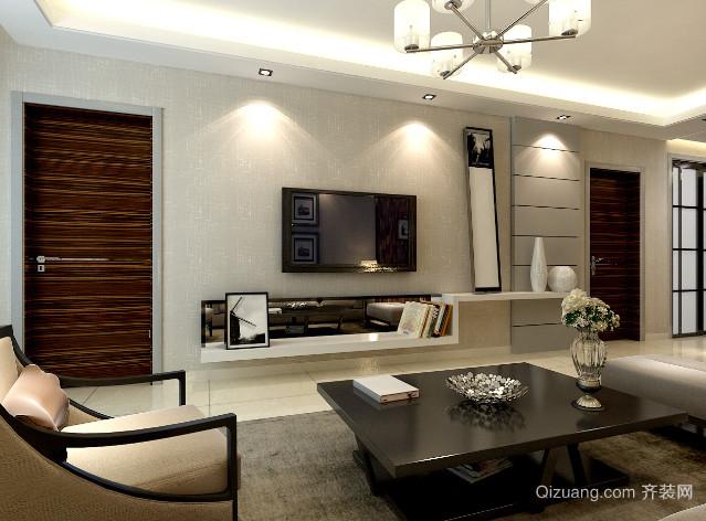 120㎡客厅家用沙发装修效果图