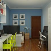 现代简约风格书房背景墙装饰