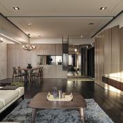 现代简约风格客厅原木茶几装饰