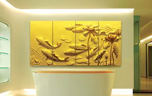 3d魔块彩雕客厅电视背景墙图片展示