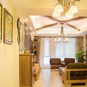 美式混搭风格客厅照片墙装饰