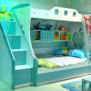 简约小清新绿色儿童床