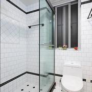 后现代风格经典黑白色卫生间装饰