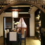 后现代风格深色拱门装饰