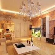 欧式风格田园客厅吊顶装饰