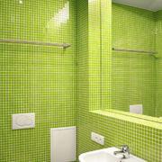 清新果绿色卫生间瓷砖装饰
