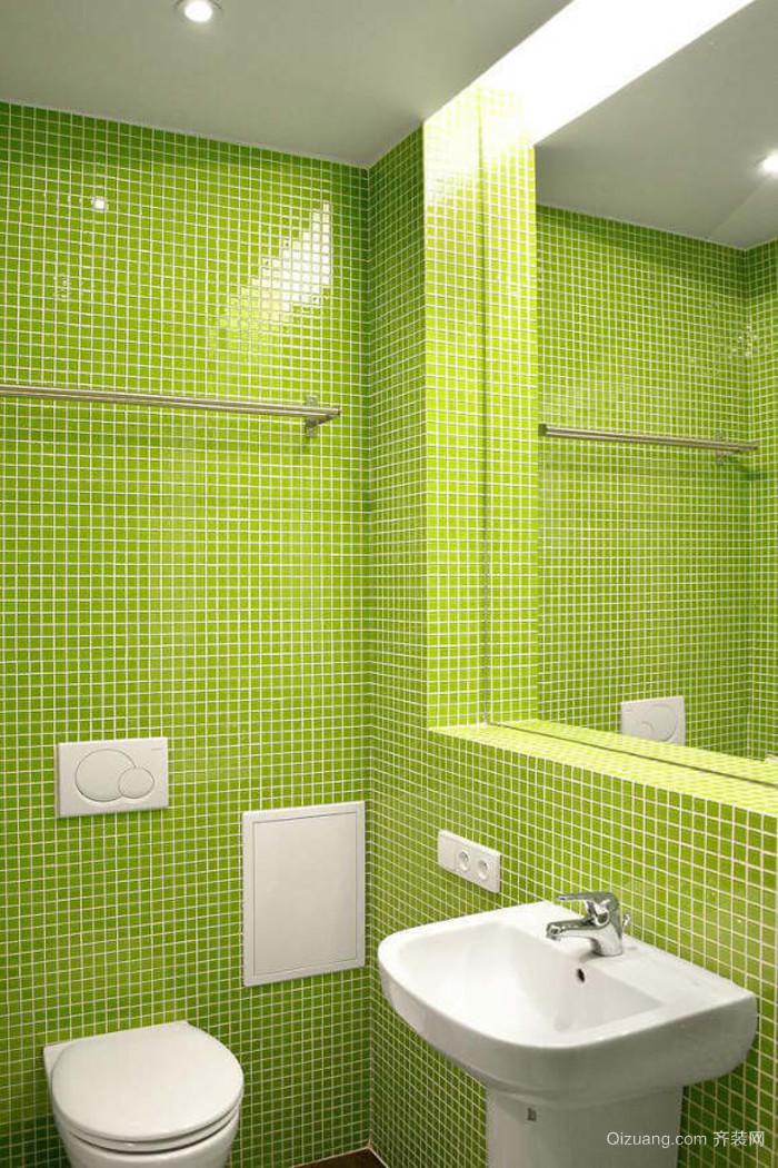 欧式卫生间彩色瓷砖装修效果图