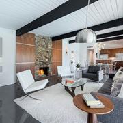 后现代风格简约客厅石膏板吊顶装饰