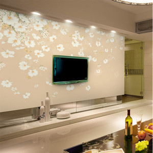 时尚动感电视背景墙壁纸效果图