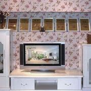 欧式田园风格电视柜装饰