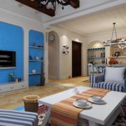 地中海客厅石膏板吊顶装饰