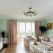 欧式简约风格田园印花客厅装饰