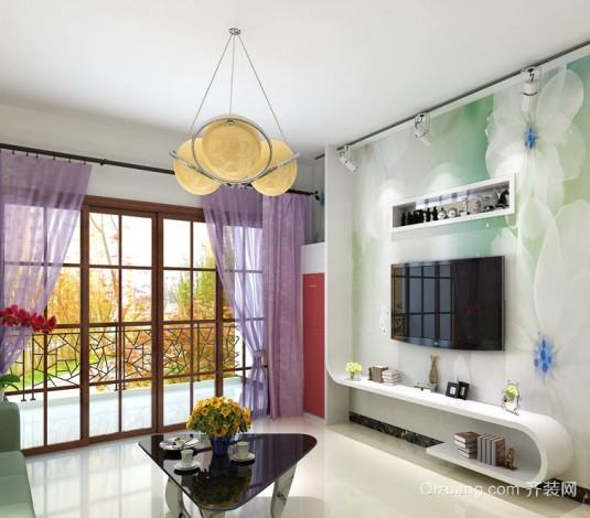 客厅墙体彩绘电视背景墙装修效果图