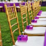 浪漫紫色主题婚庆现场