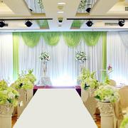 绿色主题婚庆现场
