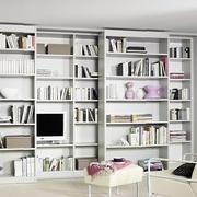 精美小户型分层白色书柜