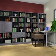 精美现代大户型书柜