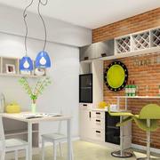厨房常见简约白色户型吧台