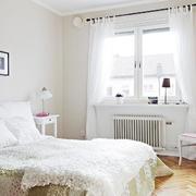白色唯美简约型卧室
