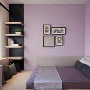 紫色小清新书房
